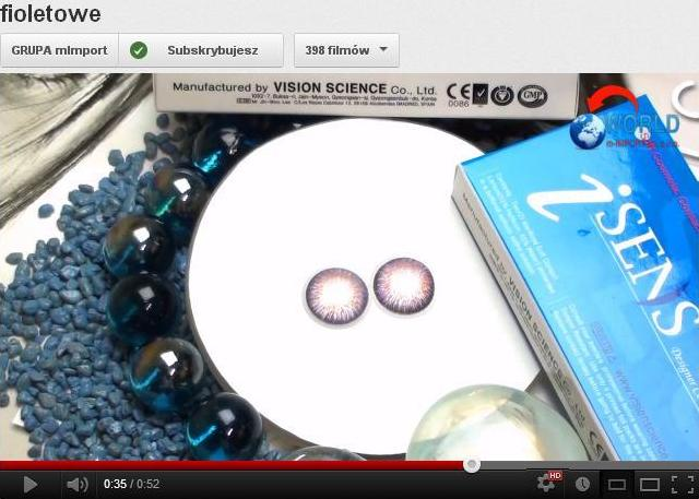 watch video on youtube violet contact lenses visionscience
